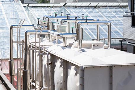 高架水槽等の鋼製架台設計